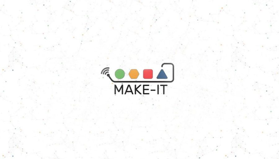 Make IT logo with background