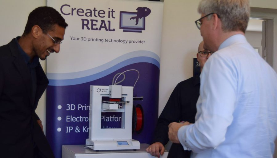 Danish Minister Of Science, Technology, Information And Higher Education visiting Create it REAL's office